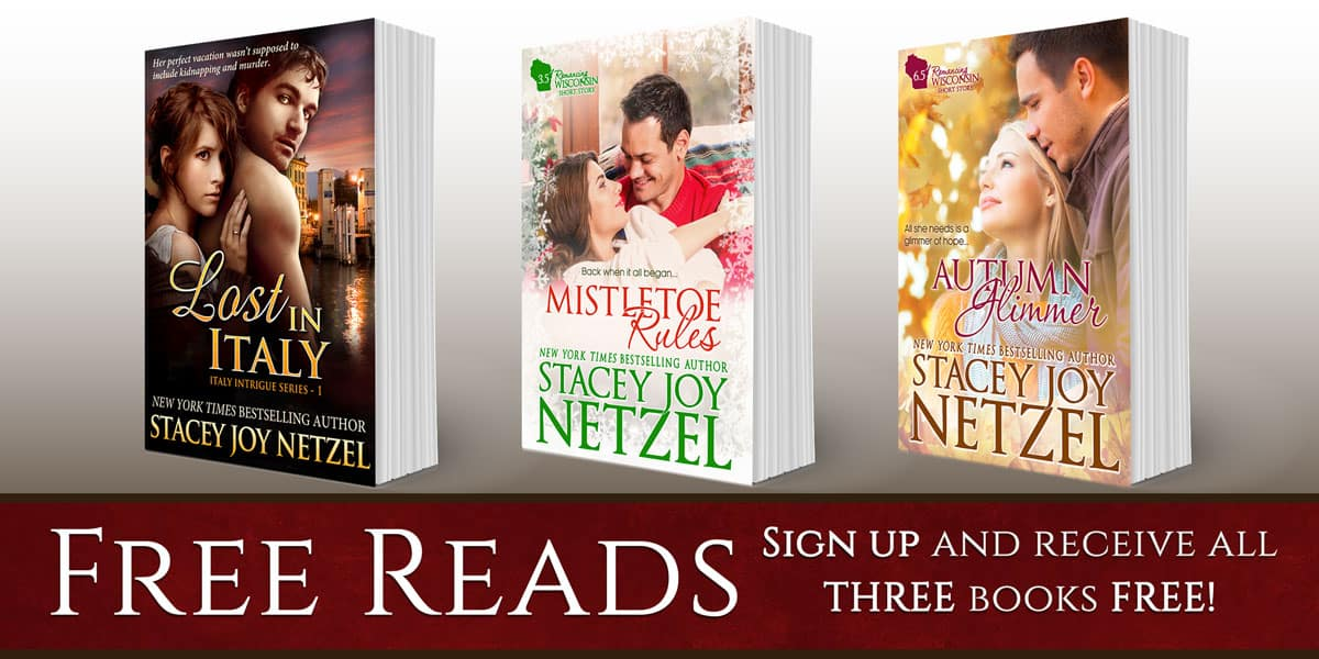 Sign up for Stacey Joy Netzel's Newsletter & Get three free books!