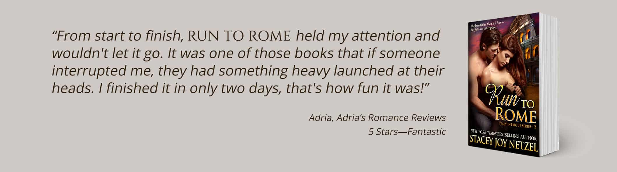 Run to Rome by Stacey Joy Netzel